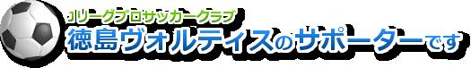 徳島ヴォルティスのサポーターです。